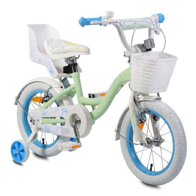 """Детски велосипед 14"""" Flower тюркоаз"""