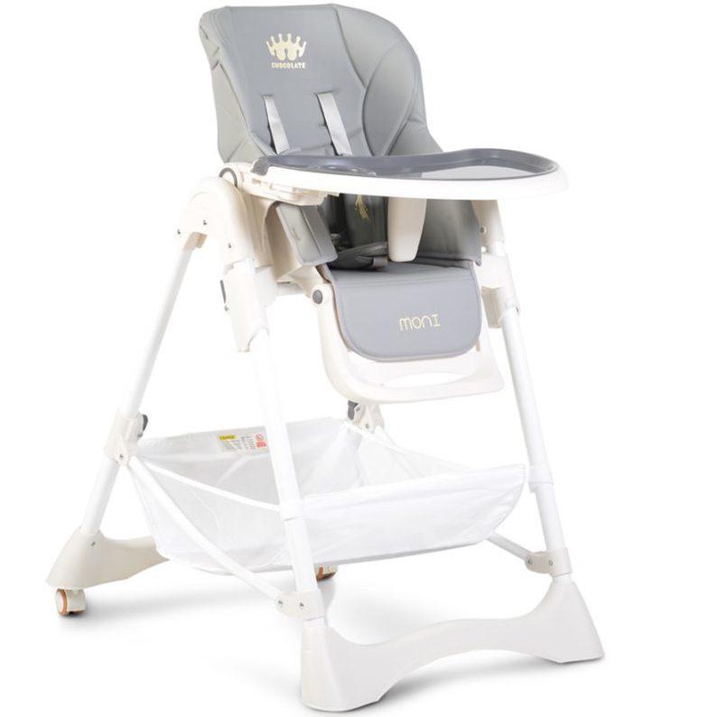 Детски стол за хранене Chocolate сив