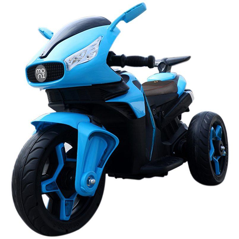 Акумулаторeн мотор Shadow с кожена седалка – 6688 син
