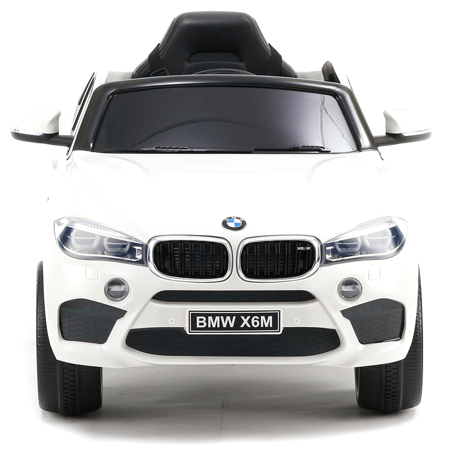 Акумулаторен джип BMW X6M кожена седалка – JJ2199 бял
