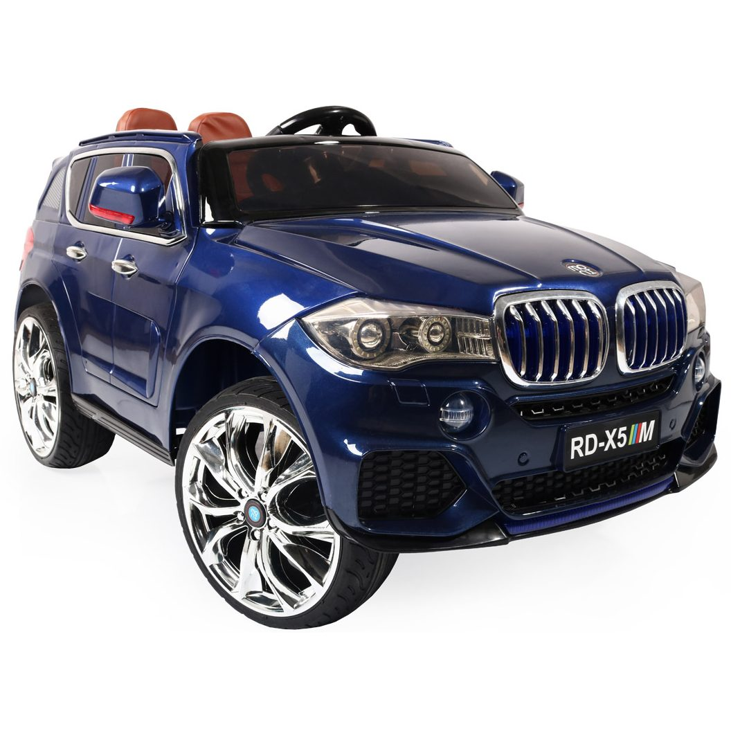 Акумулаторен джип BMW M5X металик – RD500 син