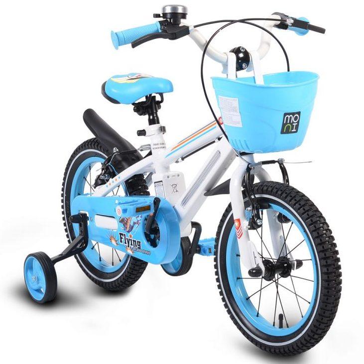 Детски велосипед 14″ със светеща рамка – 1490 син
