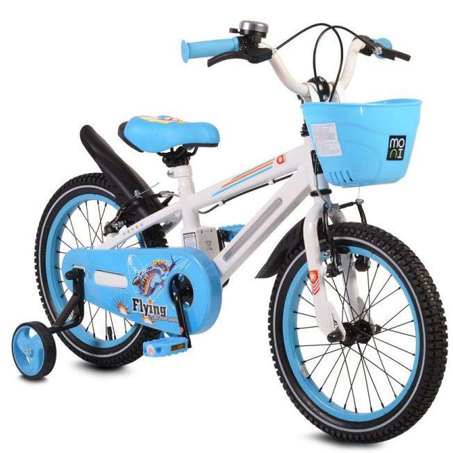 Детски велосипед 16″ със светеща рамка – 1690 син