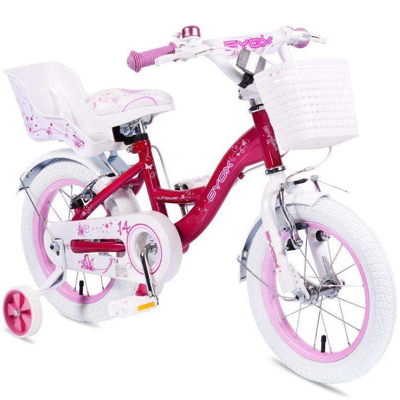 "Детски велосипед 14"" Flower розов"