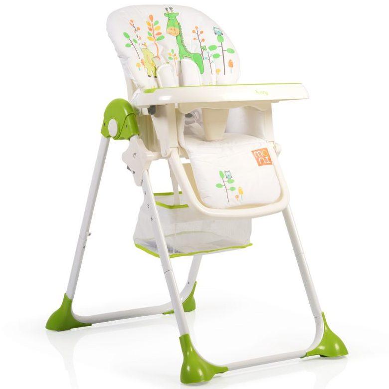 Детски стол за хранене Hunny зелен