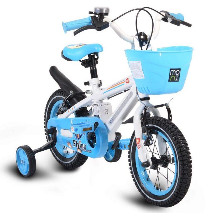 Детски велосипед 12″ със светеща рамка – 1290 син