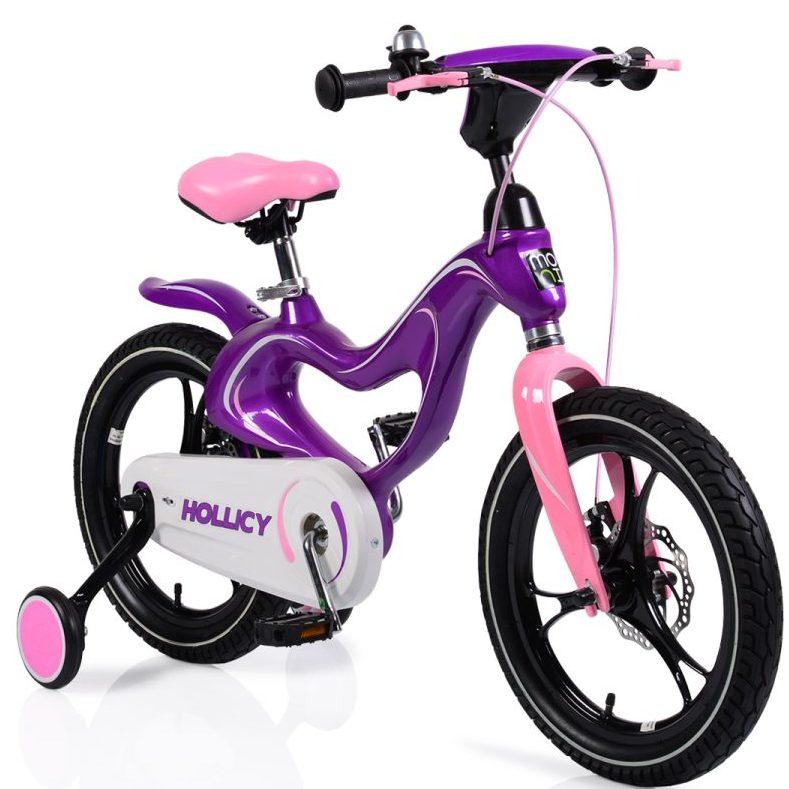 Детски магнезиев велосипед 16MH лилав