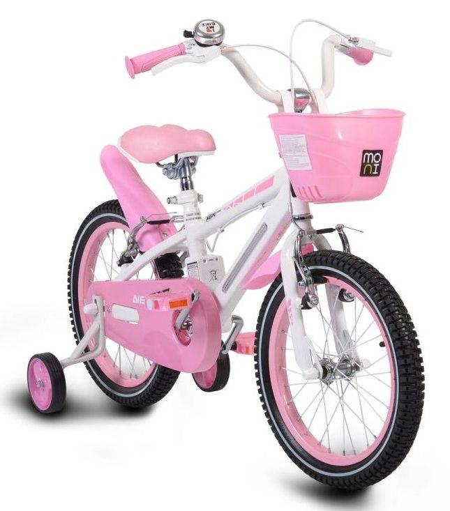 Детски велосипед 16″ със светеща рамка – 1690 розов