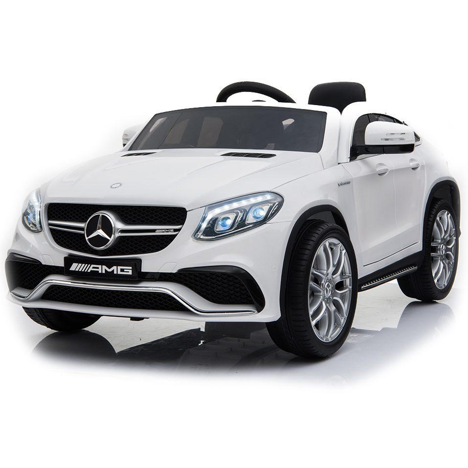 Акумулаторен джип Mercedes AMG GLE63 Coupe металик – A005 бял