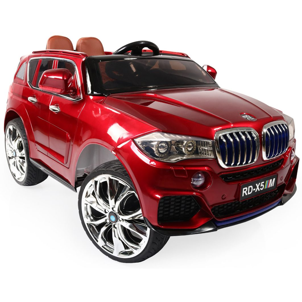 Акумулаторен джип BMW M5X металик – RD500 червен