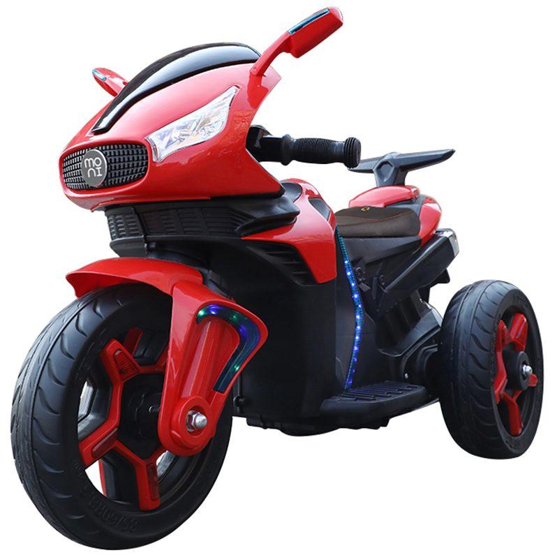 Акумулаторeн мотор Shadow с кожена седалка – 6688 червен