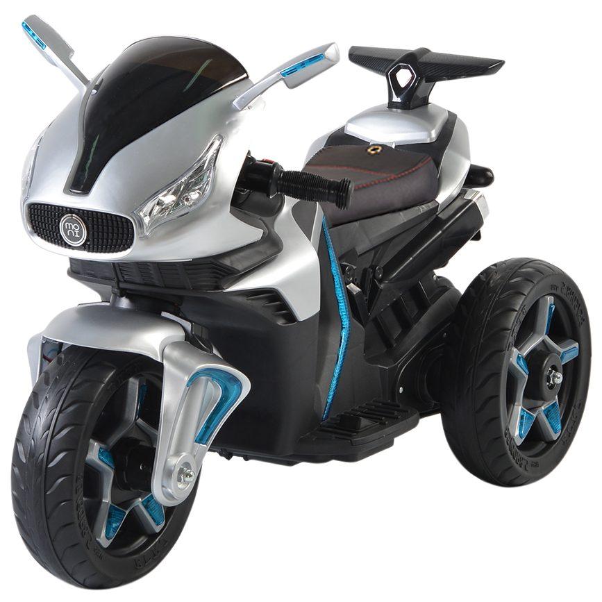 Акумулаторeн мотор Shadow с кожена седалка металик – 6688
