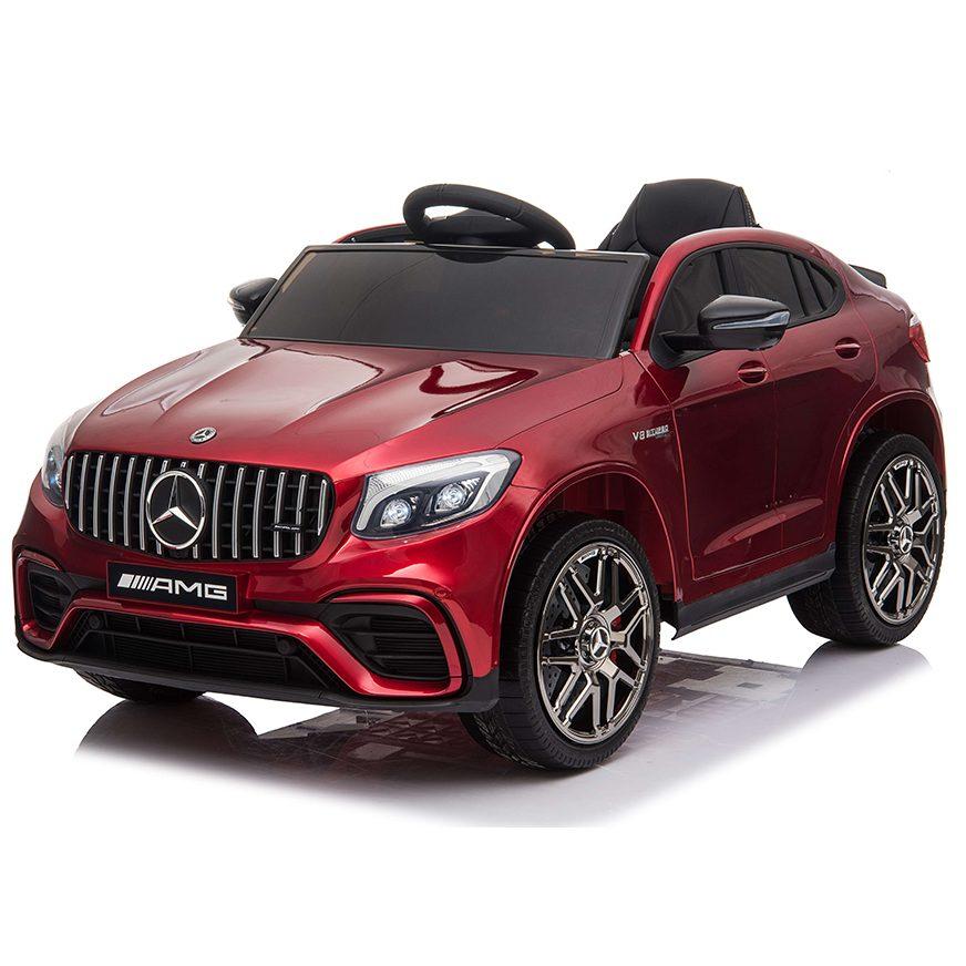 Акумулаторен джип Mercedes GLC 63 S AMG металик – QLS-5688 червен