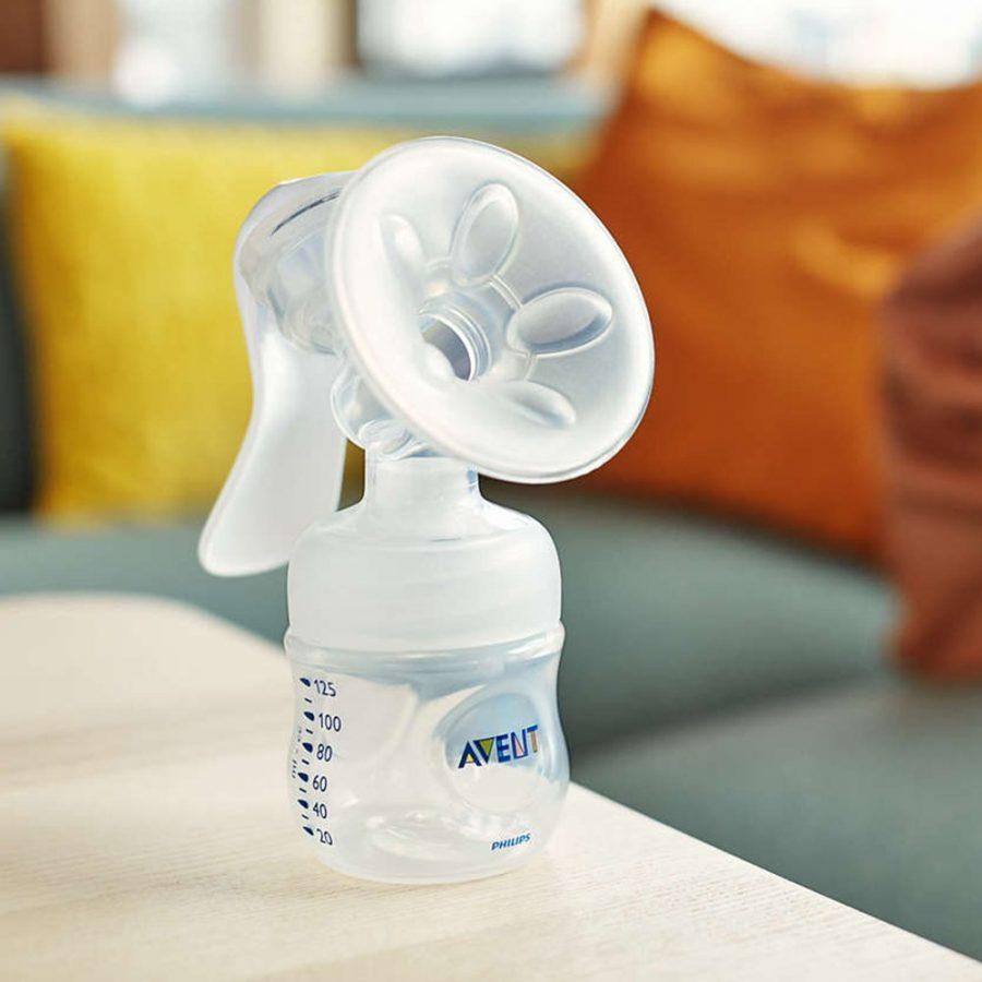 Philips AVENT Механична помпа Comfort + Шишета Natural + контейнери VIA