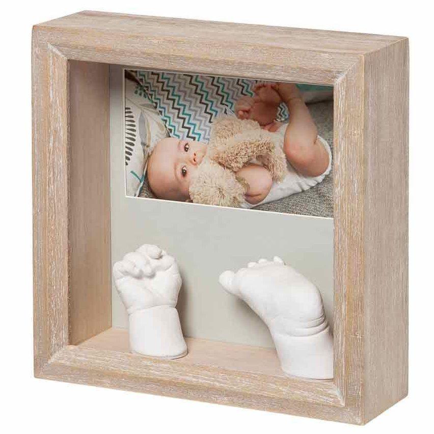 BABY ART Рамка за отливка и снимка Stormy (избелен цвят)