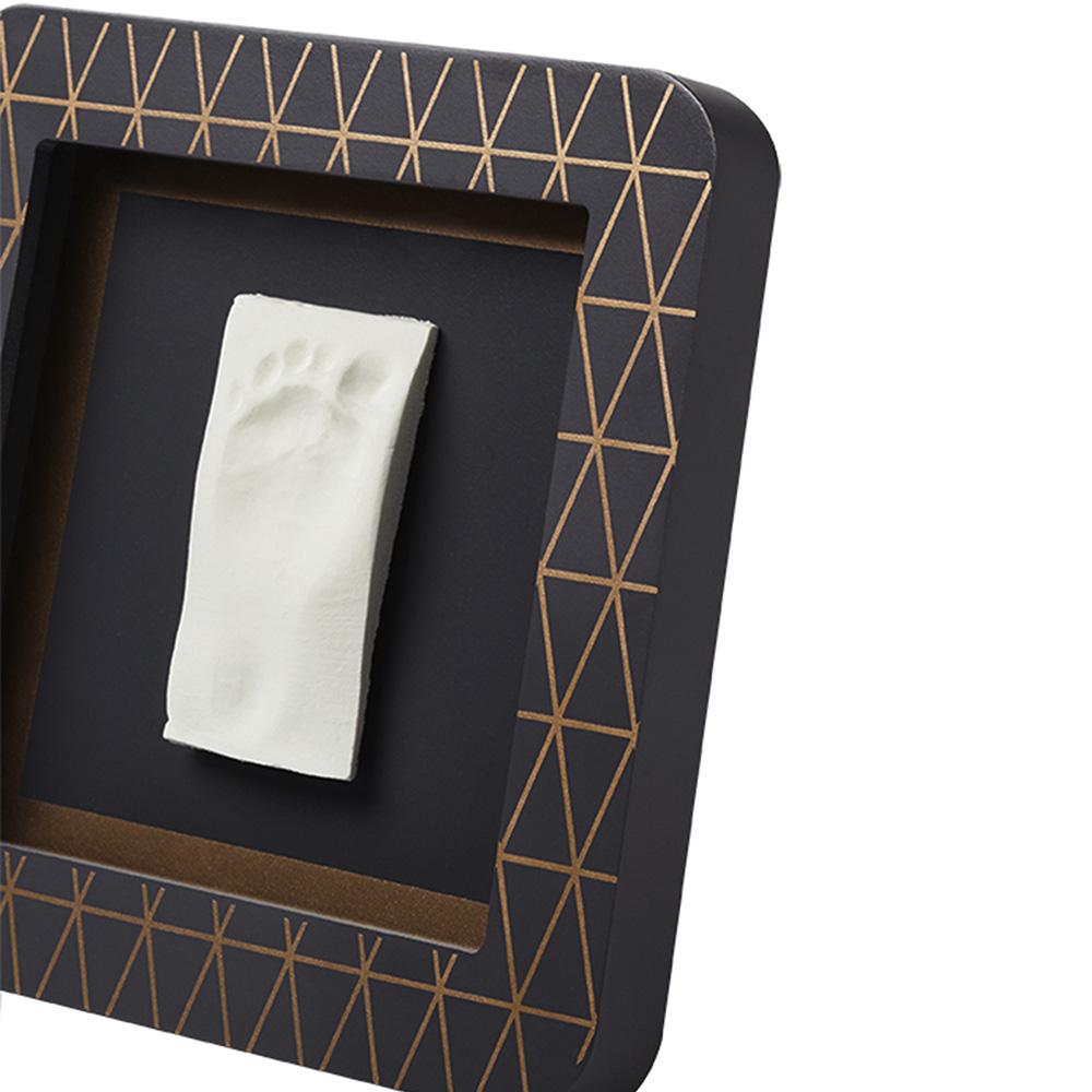 BABY ART Квадратна рамка за отпечатък и снимка My Baby Touch Dark Grey Copper (Тъмносива с декорация, паспарту в 4 цвята)