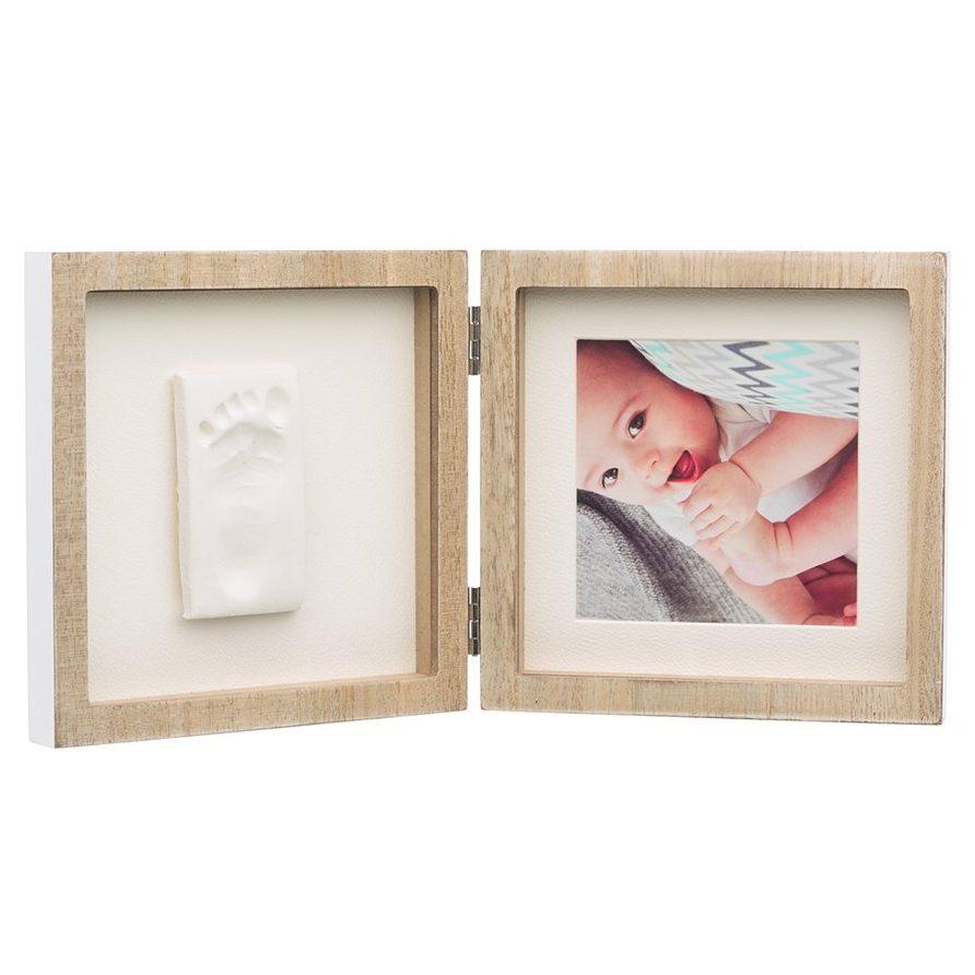 BABY ART Рамка за отпечатък и снимка My Baby Style, цвят дърво; бяло паспарту