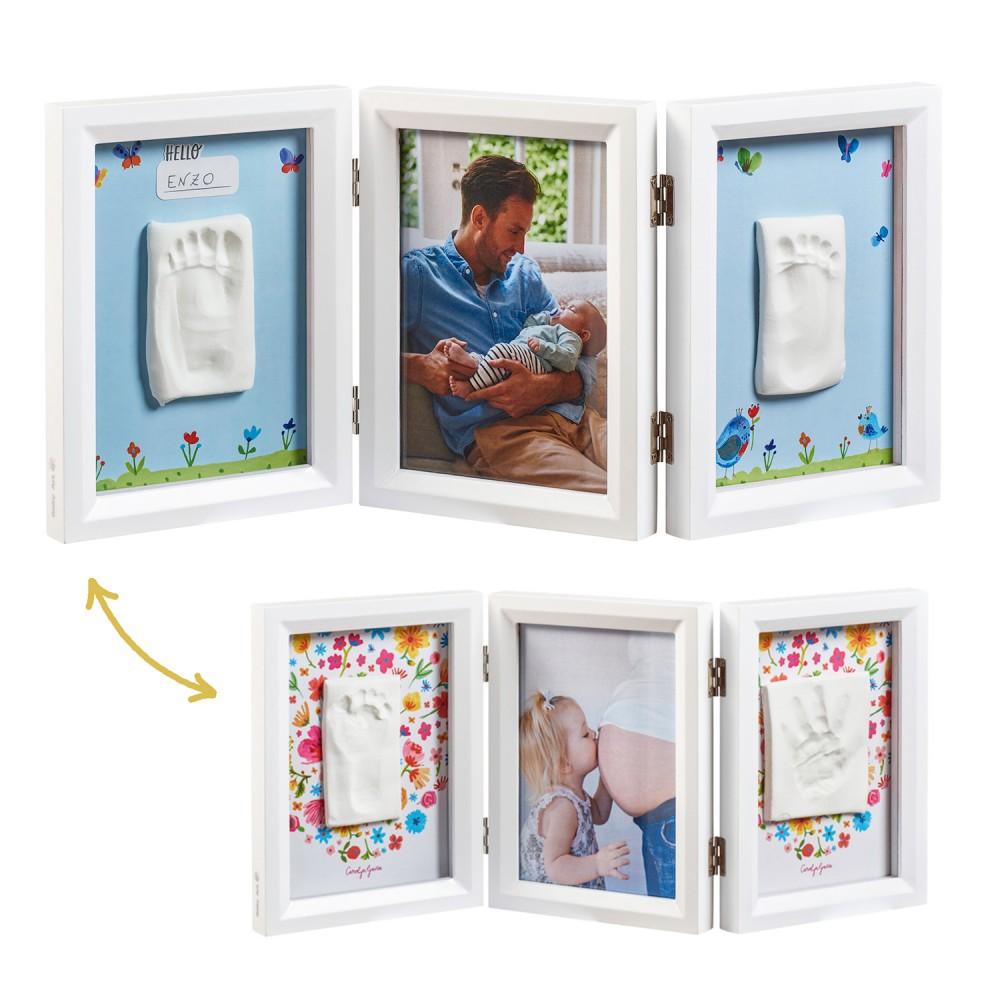BABY ART Рамка за отпечатък за ръчичка и краче и снимка Carolyn Gavin Limited Edition (с 2 лица)
