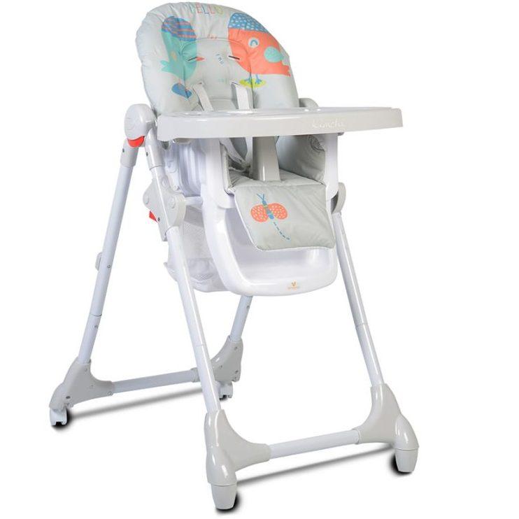 Детски стол за хранене Kimchi сив