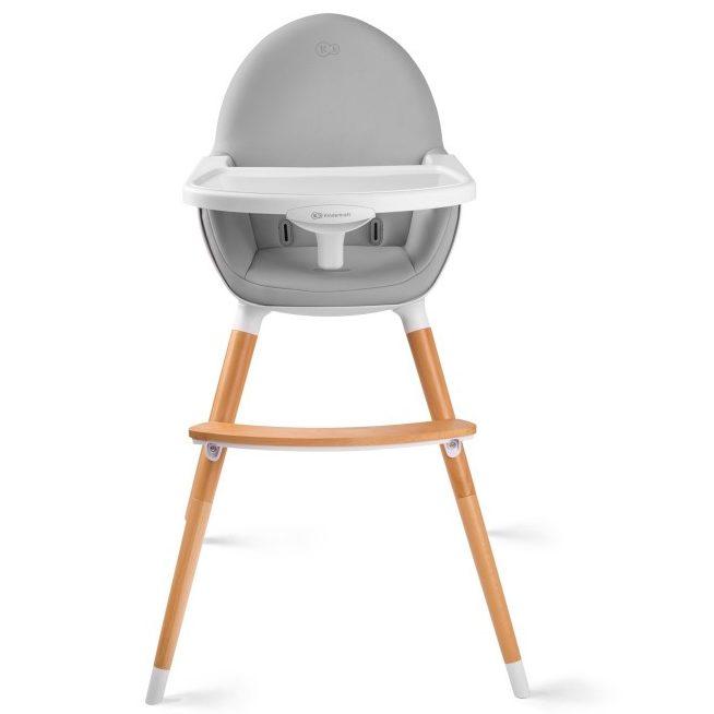 Столче за хранене 2 в 1 KinderKraft FINI, Сиво