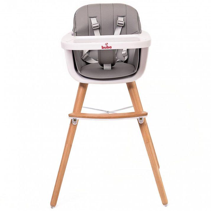 Столче за хранене Buba Carino, Сиво