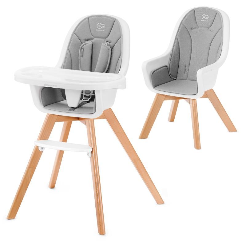 Столче за хранене KinderKraft TIXI, Сиво