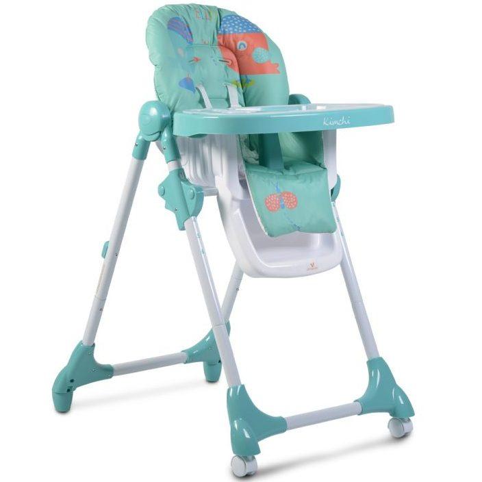 Детски стол за хранене Kimchi тюркоаз