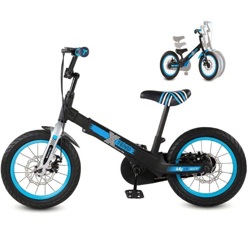Разтегаем Велосипед smarTrike Xtend Mg+™ 3-в-1 – черен/син