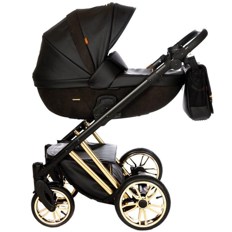 Бебешка количка Tutek DIAMOS Limited 3в1 Black/Gold
