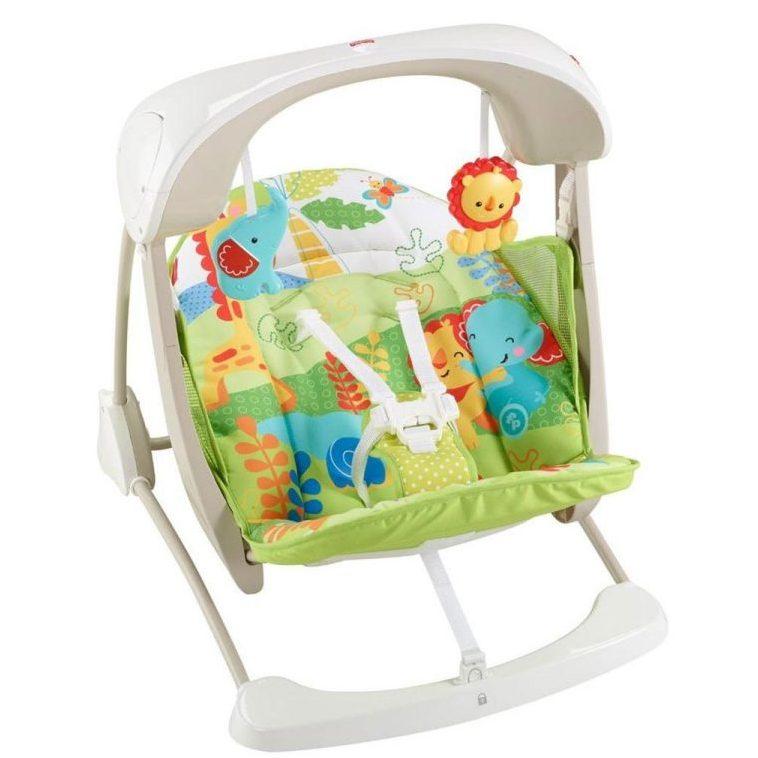 Бебешка люлка/столче Fisher Price, Тропическа гора
