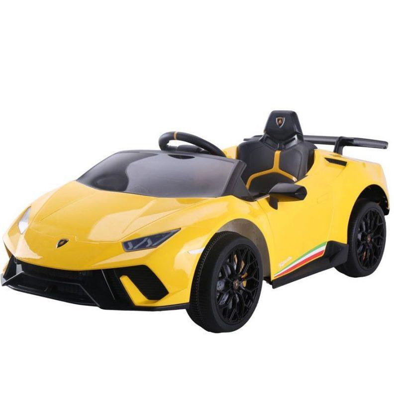 OCIE Кола акумулаторна 12V LAMBORGHINI HURACAN с родителски контрол Жълта 8210270BR