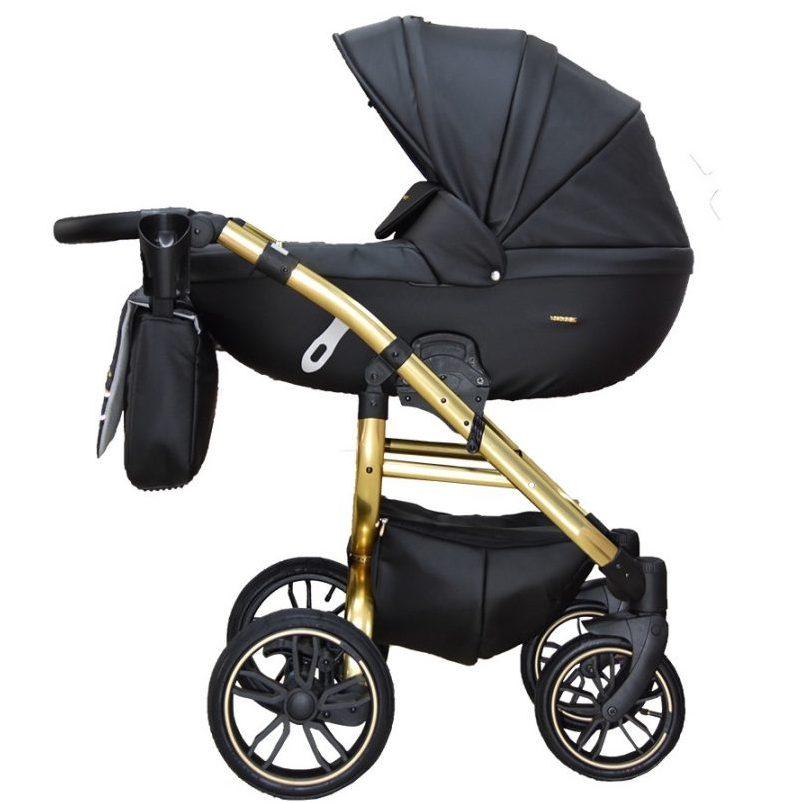 Бебешка количка Tutek GRANDER PLAY 3в1 BLACK/GOLD ECO