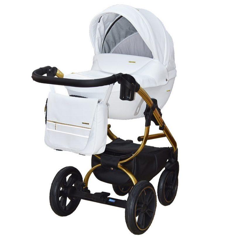 Бебешка количка Tutek GRANDER Play 3в1 WHITE GOLD ECO