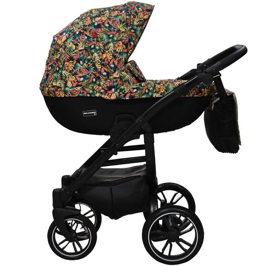 Бебешка количка Tutek GRANDER Play 3в1 Flowers/Parrot