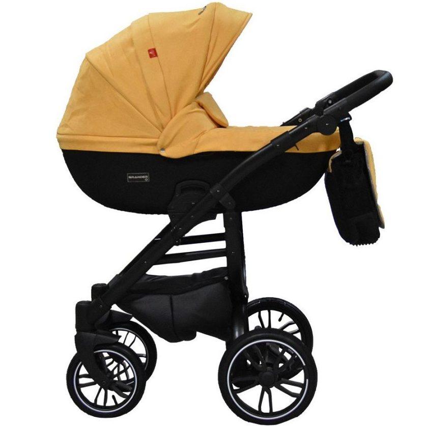 Бебешка количка Tutek GRANDER Play 3в1 Yellow Black