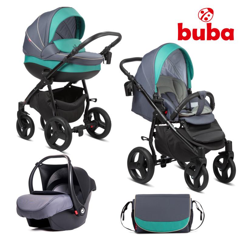Бебешка количка 3в1 Buba Bella 755, Pewter-Green