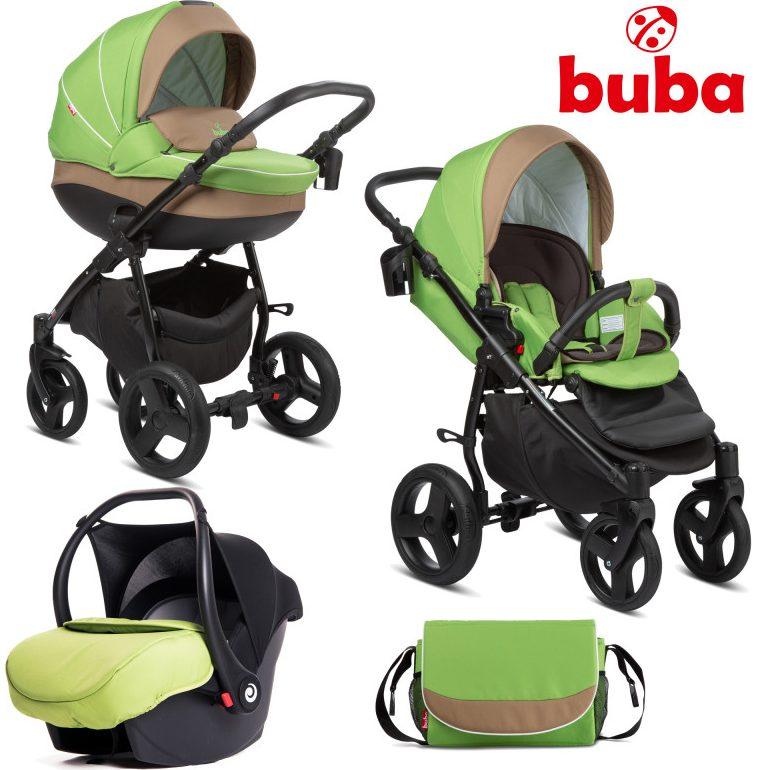 Бебешка количка 3в1 Buba Bella 757, Green