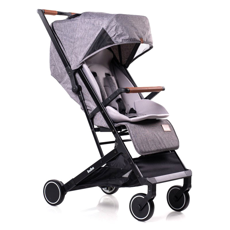 Бебешка количка Buba Primavera, Сива