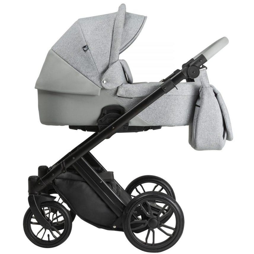 Бебешка количка Tutek DIAMOS 3в1 Eco 1 Light Grey