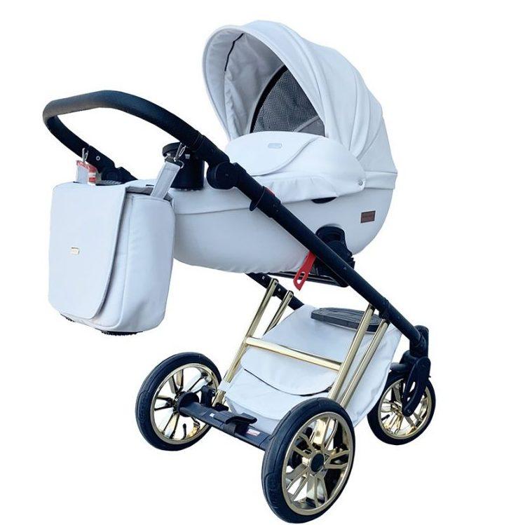 Бебешка количка Tutek DIAMOS Eco Limited 3в1 Gold/Бял