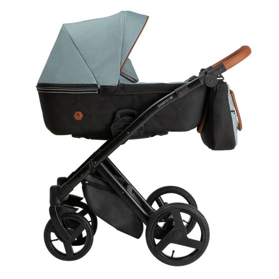 Бебешка количка Tutek DIAMOS   VX 3в1 Blue Grey DVX2