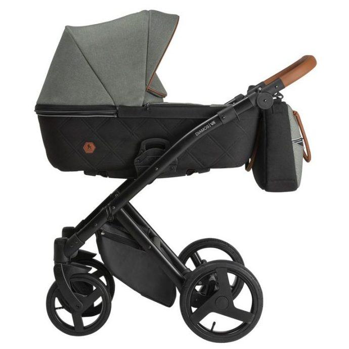 Бебешка количка Tutek DIAMOS   VX 3в1 Green Grey DVX3