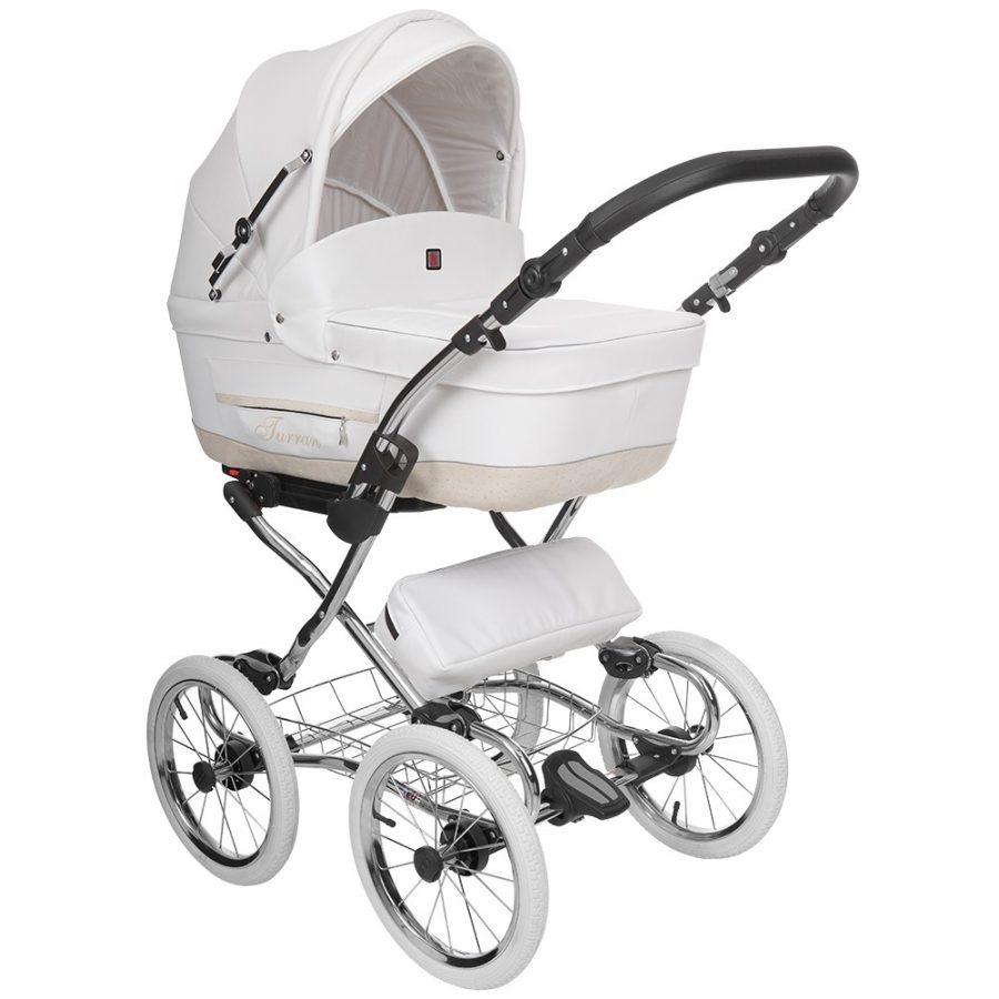Бебешка количка Tutek TURRAN 3в1 White TSECO/B