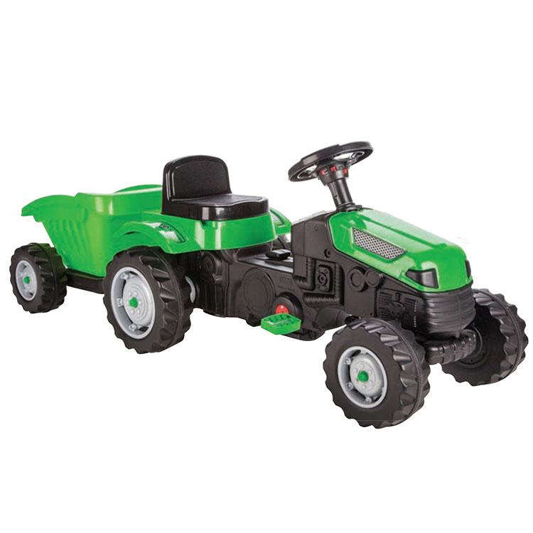 Трактор Active с ремарке – 07316 зелен