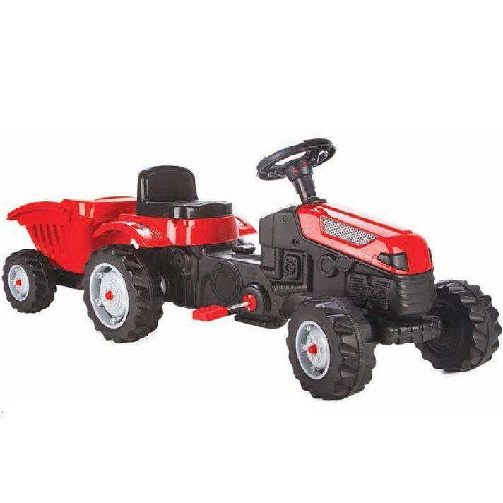 Трактор Active с ремарке – 07316 червен