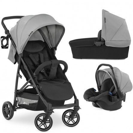 Комбинирана бебешка количка HAUCK Rapid 4R Plus Trioset Grey