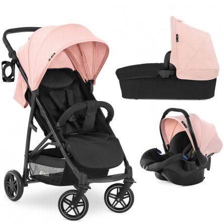 Комбинирана бебешка количка HAUCK Rapid 4R Plus Trioset Rose