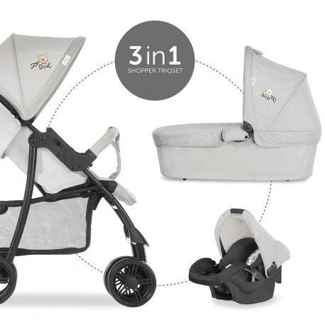 Комбинирана бебешка количка HAUCK Shopper Trioset Pooh Exploring