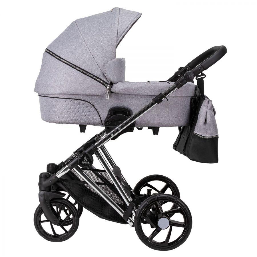 Бебешка количка Tutek DIAMOS PRO 3в1 DPRO1 Light Grey