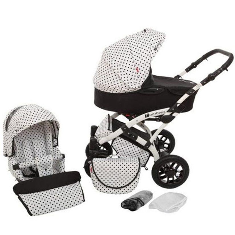 Бебешка количка Tutek TAMBERO 2в1 Black & White APD01